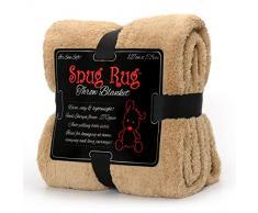 Snug Rug Pregiato Sherpa, Edizione Speciale Coperta in Pile 127 x 178 cm (50) x 70 cm (Beige)