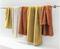 Fleuresse 282813 - Asciugamano da bagno di spugna 90 x 200 cm, colore: Rosso astice