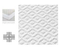 Casa Tessile, Coprimaterasso Sanity spugna con angoli Maxi, 1 piazza e mezza 135x200+25 cm
