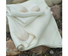 LinenMe 35 x 50 cm set di 2 asciugamani, Rhomb Damask, bianco