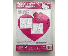 Hello Kitty Biancheria da letto Renforcé 1 X Cuscino 80 x 80 cm/1 X copripiumino 135 x 200 cm 100% cotone Oeko Tex Standard 100 biancheria da letto