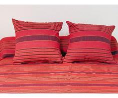 Fodera per cuscino 40 x 40 cm OLYMPE rossa