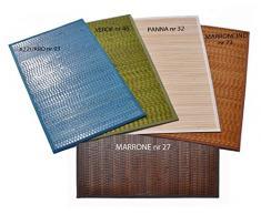 Bamboo Tamburato tappeto passatoia cm 200x300 [ARANCIO]