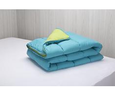 Pikolin Home - Piumino / trapunta in fibra, effeto piumino, autunno-inverno, 300 gr/m², 240 x 220 cm, letto da 150/160, colore turchese