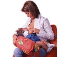 Merrymama - Cuscino allattamento e gravidanza + fodera con lacci/cm 190 (imbottito in microgranuli di polistirene ignifugo), Provenzale ecrù