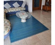 Bambù liscio tappeto passatoia cm 200x300 [ARANCIONE]