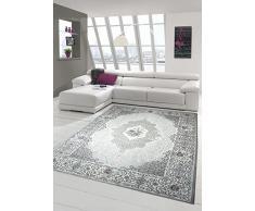 Designer e tappeto moderno tappeto soggiorno oriente in grigio beige crema Größe 200 x 290 cm