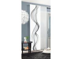Home fashion Edmonton Tenda a Pannello, Poliestere, Grigio, 245 x 60 cm