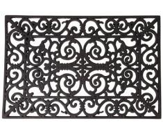 Esschert Design - Zerbino rettangolare, offerto di varie dimensioni, colore: Nero