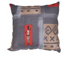 OLIBO Cuscino Bombato, Disegno Africa Etnico Patchwork