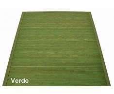 Bambù liscio tappeto passatoia cm 160x230 [VERDONE]