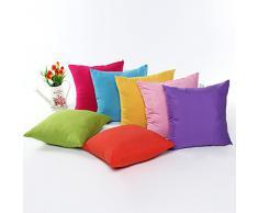 ZXKEE fodere per cuscini Rosa Pura Colore decorativi Copricuscini e federe 45×45 cm