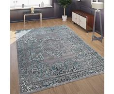 Paco Home di Design Soggiorno Tappeto Aspetto 3D Motivo Orientale in Grigio Turchese, Dimensione:160x230 cm