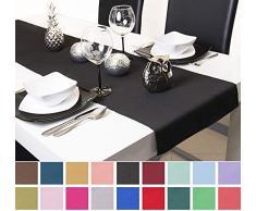 Roban Fashion, runner da tavolo, 40 cm di larghezza, in 26 colori, Nero , 40x220 cm