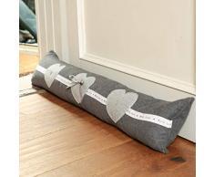 Dibor Paraspifferi grigio decorato Heart stopper cuscino - W80 CM