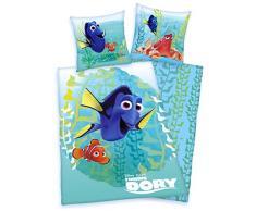 Biancheria da letto Disney Dory Nemo 80 X 80 135 x 200 cm, Microfibra, non necessita di stiratura con chiusura lampo, nuovo von Herding