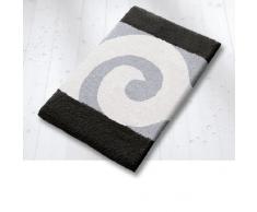 Kleine Wolke - Tappetino per il bagno Filous Swirl, 60 x 100 cm, lavabile in lavatrice