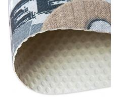 Set tappeti bagno shaggy parure 3 pezzi morbidi retro antiscivolo