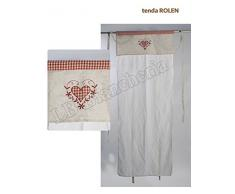 "Sophie Maison - Coppia tendine ""Rolen"" - tende shabby chic country provenzali cm 60x240"