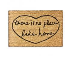 "Relaxdays - Zerbino da ingresso con la scritta There Is No Place Like Home"" 40 x 60 cm in fibra di cocco"