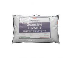 Gabel Nottetempo Guanciale Super Comfort, cuscino per letto, Cotone-Piuma DOca, Bianco, 80 x 50 x 14 cm