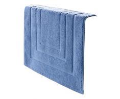 De Witte Lietaer - 195,194, Tappeto da bagno in cotone, Azzurro (Bleu), 75 x 50 cm