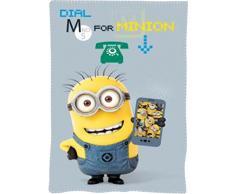 Minions CM26065 Coperta Plaid, Pile, 150 Centimetri, Bambini, Multicolore, Cattivissimo Me