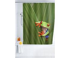 Wenko 20958100 Tenda Doccia Frog - Fibra Tessile di qualità, Lavabile, Poliestere, Multicolore