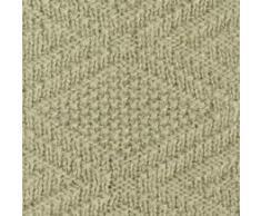 Linen & Cotton Plaid/Coperta/Copertina a Maglia Neonato Bambino Invernale Estiva Lilou -100% Pura Lana Nuova Zelanda, Beige, Grande (120 x 150cm), Per Carrozzina, Culla, Letto/Lettino, Passeggino