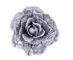 longyitrade a forma di fiore finestra tenda fermatenda fibbia magnetica Holdback drappo Home Decor Grey