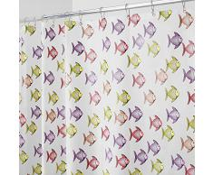 InterDesign Fishy Tenda Doccia, Vinile, Rosa, 183x0.2x183 cm