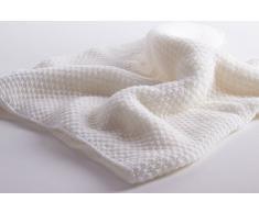 Love Cashmere Sofficissima Coperta da Bambino in Cashmere al 100% (Cashmere Baby Blanket) - Bianco - Realizzato a mano ad in Scozia