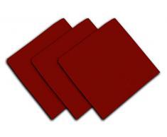 Set di 3 tovaglioli in cotone PANAMA rosso