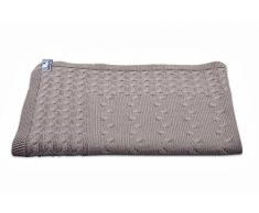 Babys Only Coperta lavorata a maglia per bambini 95 x 70 cm, Marrone (Taupe)