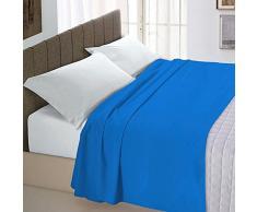 Italian Bed Linen Maxi Lenzuolo sopra Tinta Unita 100% Cotone Nero Matrimoniale King Size, 270 x 300 cm