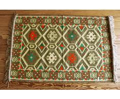 Tappeti Kilim Moderni : Kilim vintage patchwork tappeto in beige scuro e marrone chiaro