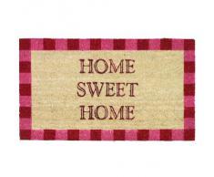 Novelty Home Sweet Home - Zerbino in fibra di cocco con retro in PVC, con bordo decorato, 40 x 70 cm