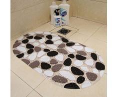 LEORX Tappeto tappetino da bagno vasca da bagno - tappetino morbido PVC bagno antiscivolo per il bagno