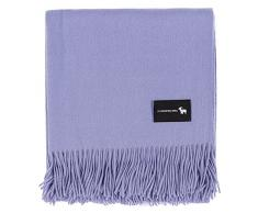 Cofinex 7454-Plaid in cashmere, 170 x 130 cm, colore: lavanda