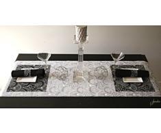 Bianco Glitter - Runner da tavolo 40 cm x 180 cm