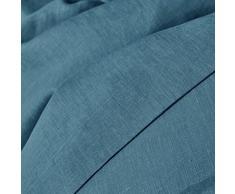 La Redoute Interieurs Unisex Copripiumone Lino Lavato Taglia 140 X 200 Cm Blu