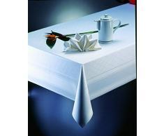 Gastro Uzal tovaglioli tessuto, 10 pezzi bianco tavolo biancheria Damasco, gastronomie tovaglie, Tovaglioli in stoffa, bianco con bordo Atlas (50 X 50) 742832816496