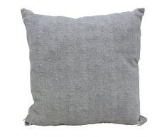 Cuscino salotto Grigio 60x60 arredo arredamento casa divano letto in cotone, Euronovità Srl- MADE IN ITALY