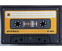 Empire Merchandising GmbH, 640963, Zerbino, Motivo: Audiocassetta, 60 x 40 cm, in Polipropilene, Multicolore (Bunt)