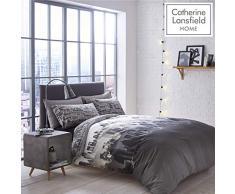 Catherine Lansfield, Set Biancheria da letto, Singolo, 135 x 200 cm