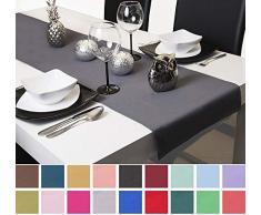 Roban Fashion, runner da tavolo, 40 cm di larghezza, in 26 colori, grigio scuro, 40 x 120 cm