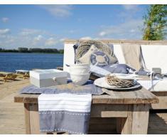 Clayre & Eef ath42 C cucina Strofinaccio at the Harbour Blu Bianco 50 x 85 cm
