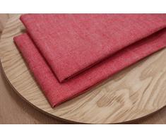 Varvara Home 1452/ 2 Tovaglioli Halina 45x45 cm, lino/ cotone (Rosso)