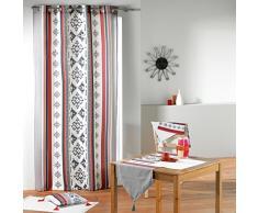 Douceur d interno Runner da tavolo con pompon Cotone Senza 40 x 140 cm, Cotone, senza colore, 140x1x40 cm