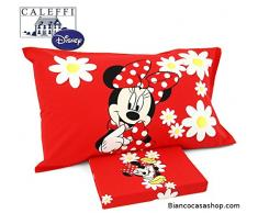 Completo letto UNA PIAZZA Disney MINNIE Margherite Var. ROSSO N°59